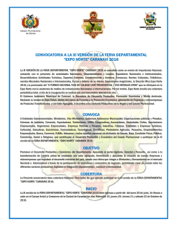 convocatoria - expo norte caranavi 2016