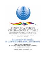 declaración ministerial de los países en desarrollo sin litoral