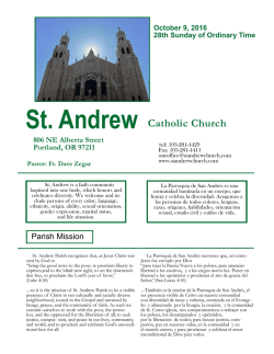 The Bulletin - St. Andrew Catholic Church
