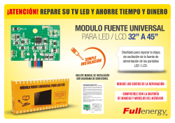 "modulo fuente universal para led / lcd 32"" a 45"""