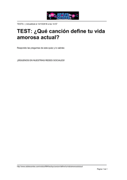 TEST: ¿Qué canción define tu vida amorosa actual?