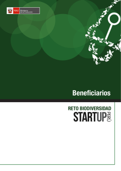 Beneficiarios - Start Up Perú