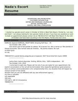 Adobe pdf - Escort Resume