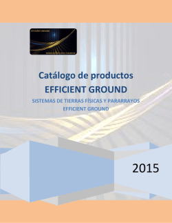 Catálogo de productos EFFICIENT GROUND