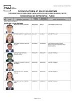CONVOCATORIA N° 002-2016