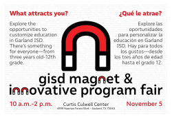 10 a.m.-2 p.m. November 5 What attracts you? ¿Qué le atrae?