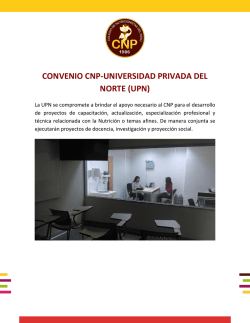 CONVENIO CNP-UNIVERSIDAD PRIVADA DEL NORTE (UPN)