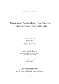 robustness of flat slab structures subjected to a - ETH E
