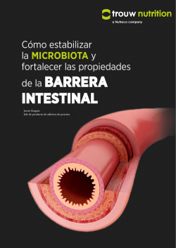 de la BARRERA INTESTINAL