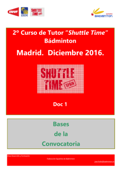 Convocatoria Curso Tutor ST