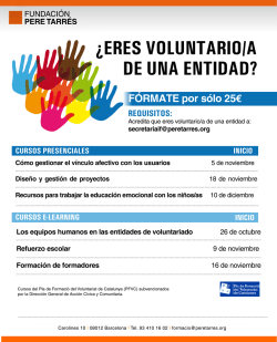 de una entidad? ¿eres voluntario/a requisitos