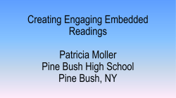 What is embedded reading?
