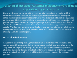 Greatest things about Customer relationship management application to your company