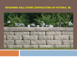 Retaining Wall Stone Contractors in Victoria, BC