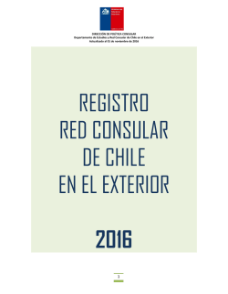 REGISTRO RED CONSULAR DE CHILE EN EL EXTERIOR 2016