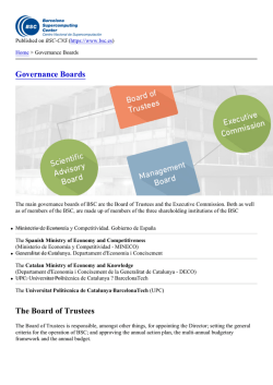 Governance Boards - BSC-CNS