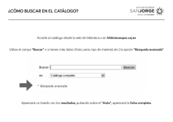 Cómo buscar en el catálogo / How to search the catalogue