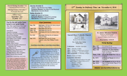 Bulletin - Sacred Heart Catholic Church