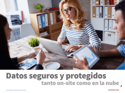 tanto on-site como en la nube