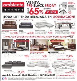 pre-black friday - Ambiente Moderno