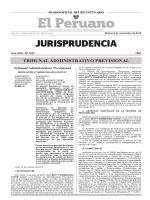tribunal administrativo previsional - Peruana