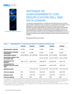 EMC Data Domain Systems Spec Sheet