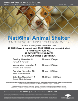 Nati Animal Shelter nal - City of Moreno Valley, California