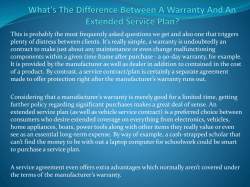 What's The Difference Between A Warranty And An Extended Service Plan