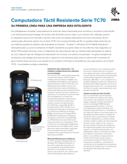 TC70 Series Specification Sheet