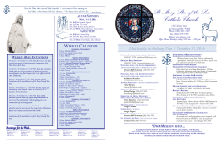 the bulletin... - St Mary Star of the Sea
