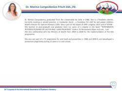 DR. MARINA CAMPODONICO FRISCH DDS.,PD.
