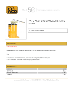 pato aceitero manual 8 lts 810