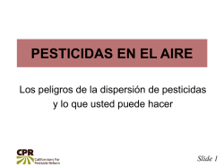 Slide 1 - Californians For Pesticide Reform