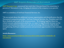 AMT Acquires Remainder of Warrantech