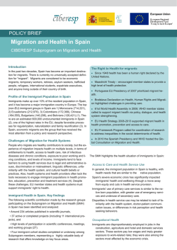 Migration and Health in Spain