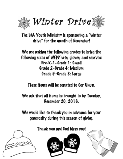 Winter Drive - Lawrence Catholic Academy