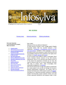 this new edition of Infosylva - Food and Agriculture Organization of