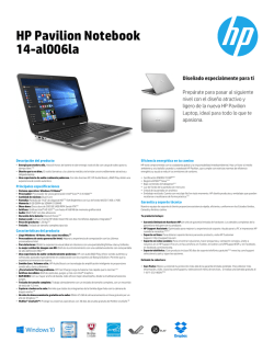 HP Pavilion Data Sheet