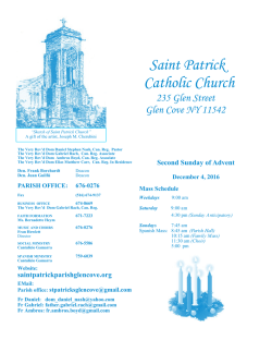 Bulletin - St. Patrick`s Catholic Church