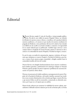 Editorial - Hospital Clínico Universidad de Chile