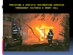 Employing a Specific Restoration Services throughout Victoria a smart call
