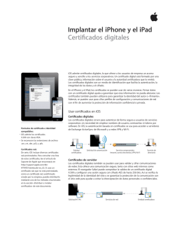 Implantar el iPhone y el iPad Certificados digitales