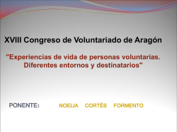 Diapositiva 1 - XVIII Congreso Estatal de Voluntariado