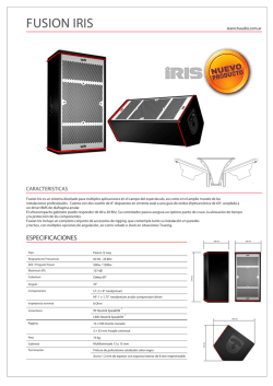 Single page cut-sheet - Stanich Audio Industria
