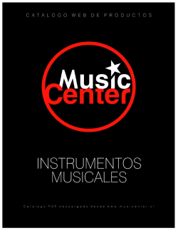 Catalogo MusicCenter