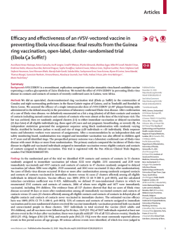 Articles Efficacy and effectiveness of an rVSV-vectored