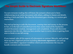 The Simple Guide to Electronic Signature Workflows