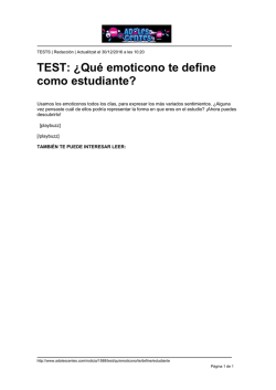 TEST: ¿Qué emoticono te define como estudiante?