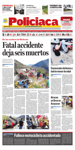 Fallece motociclista accidentado
