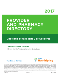 This Provider and Pharmacy Directory was updated in